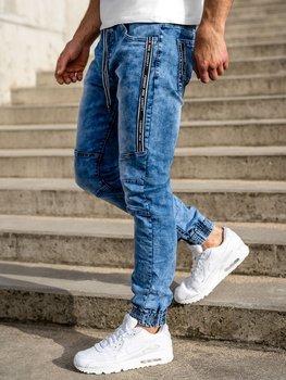 Темно-синие мужские джинсовые джоггеры Bolf TF051