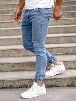 Темно-синие мужские джинсы джоггеры Bolf KA1628