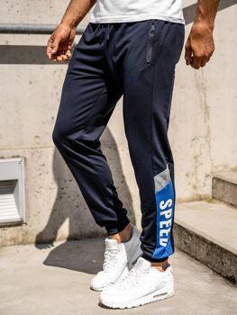 Темно-синие мужские спортивные брюки джоггеры Bolf HY717