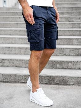 Темно-синие мужские шорты карго Bolf DF3053