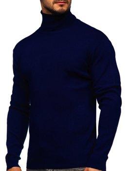 Темно-синий мужской свитер гольф Bolf H2025