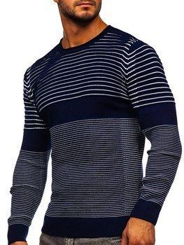 Темно-синий мужской свитер Bolf 1014
