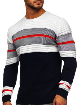 Темно-синий мужской свитер Bolf 1058
