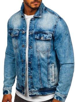 Темно-синяя джинсовая мужская куртка Bolf QS9270