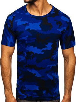 Темно-синяя мужская камуфляжная футболка Bolf S807