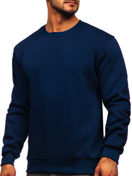 Темно-синяя мужская толстовка без капюшона Bolf 2001