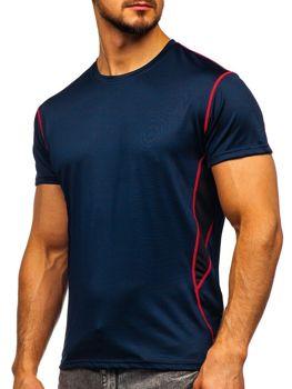 Темно-синяя мужская тренировочная футболка без принта  Bolf KS2104