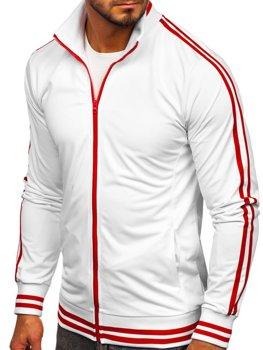 Толстовка мужская без капюшона ретро стиль белая Bolf 11113