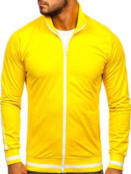 Толстовка мужская без капюшона ретро стиль желтая Bolf 2126