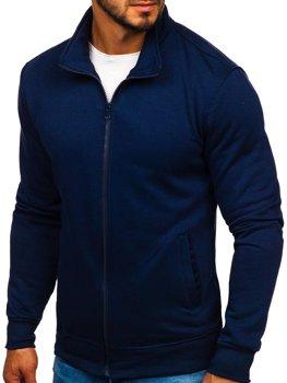 Толстовка мужская без капюшона темно-синяя Bolf B002