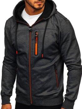 Толстовка мужская с капюшоном черная Bolf TC870-1