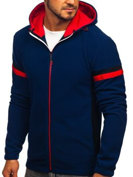 Толстовка мужская флисовая с капюшоном темно-синяя Bolf yl008