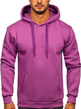 Фиолетовая толстовка с капюшоном мужская кенгуру Bolf 1004