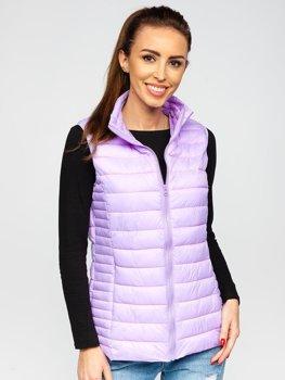 Фиолетовый стеганый женский жилет Bolf 23038