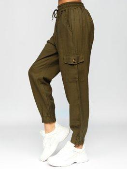 Хаки карго брюки женские Bolf HM003