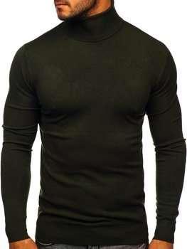 Хаки мужской свитер гольф Bolf YY02