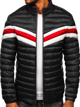 Черная демисезонная мужская стеганая спортивная куртка Bolf 6574