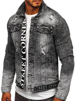 Черная джинсовая мужская куртка Bolf 6691G