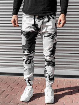 Черно-белые мужские джоггеры Bolf 11104