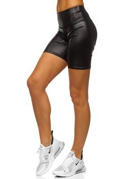 Черные короткие женские леггинсы Bolf 54548-2