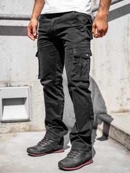 Черные мужские брюки-карго с поясом Bolf 1672
