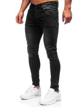 Черные мужские джинсовые брюки slim fit Bolf R924