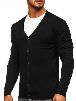 Черный мужской свитер кардиган Bolf YY06
