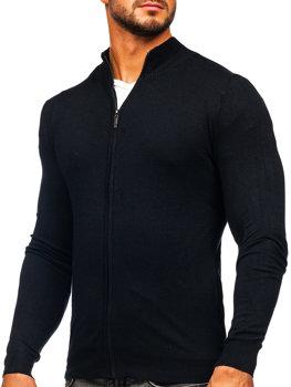 Черный мужской свитер на молнии Bolf YY07