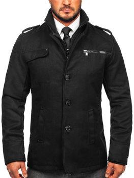 Чоловіче пальто чорне Bolf 8856