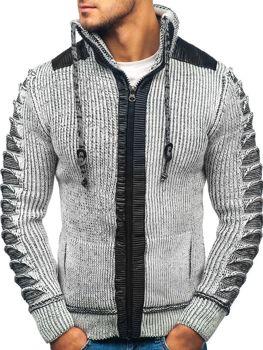 Чоловічий светр сіро-чорний Bolf 20010