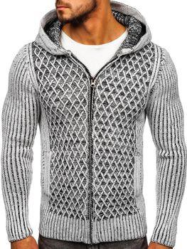 Чоловічий светр сіро-чорний Bolf 20016