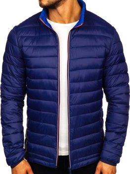 Мужская демисезонная спортивная куртка темно-синяя Bolf Ly1017