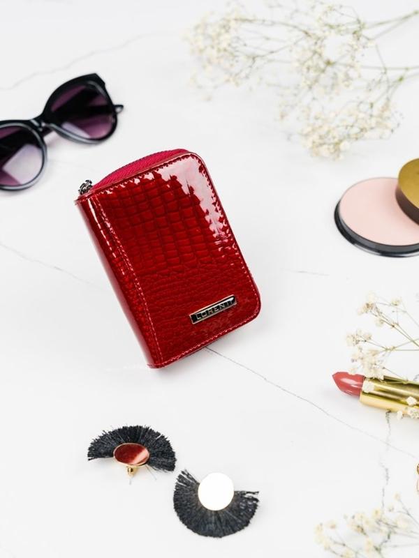 Женский кожаный кошелек красный 2109
