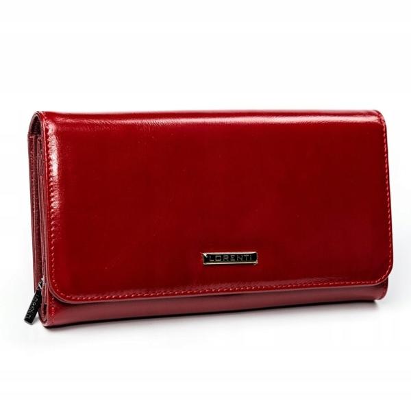 Женский кожаный кошелек красный 2900