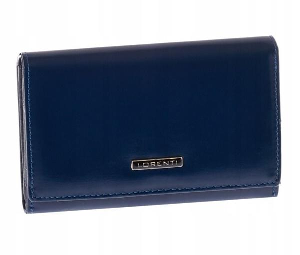 Женский кожаный кошелек темно-синий 1001