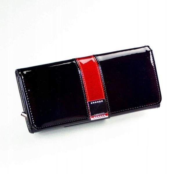 Женский кожаный кошелек черный 1166