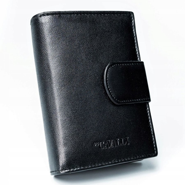 Женский кожаный кошелек черный 2777