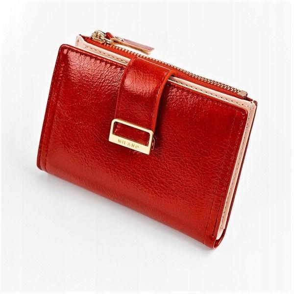Женский кошелек с эко кожи красный 1041