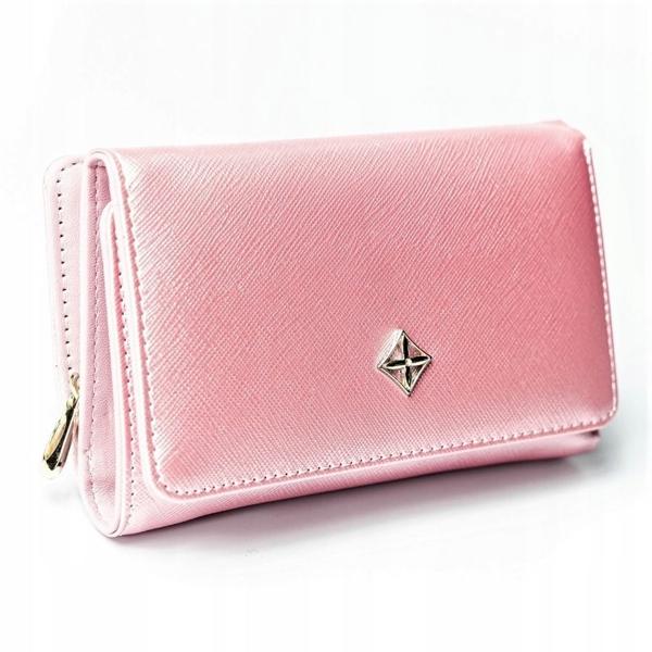 Женский кошелек с эко кожи розовый 2310