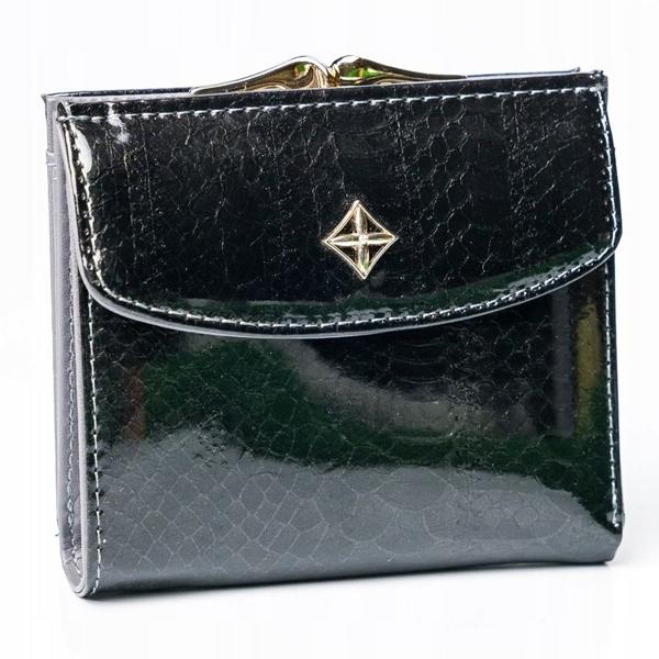Женский кошелек с эко кожи черный 2866