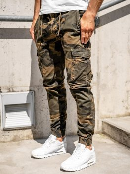 Коричневые мужские брюки джоггеры-карго Bolf CT6016