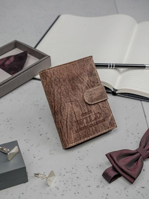 Кошелек мужской кожаный коричневый 3196