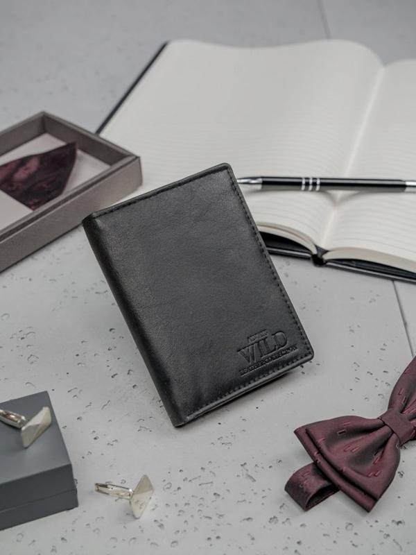 Кошелек мужской кожаный черный 3150