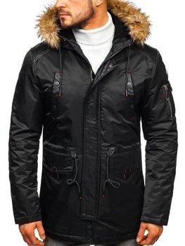 Мужская зимняя куртка черная Bolf 1080
