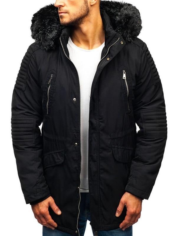 Мужская зимняя куртка черная Bolf 88859