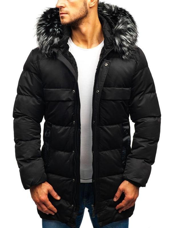 Мужская зимняя куртка черная Bolf 99113