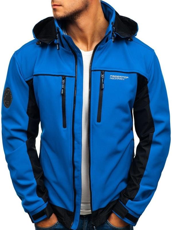 Мужская куртка софтшелл синяя Bolf 2339