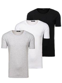 Мужская футболка без принта мультиколор 3 Pack Bolf 798081-3p