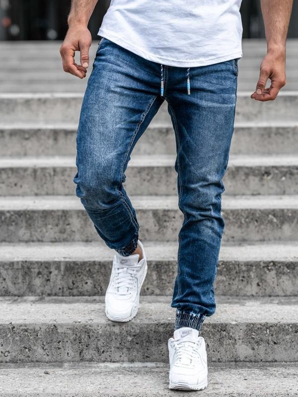 Мужские джинсовые брюки джоггеры темно-синие Bolf KA730