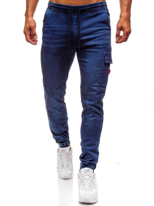 Мужские джинсовые брюки джоггеры темно-синие Bolf Y271